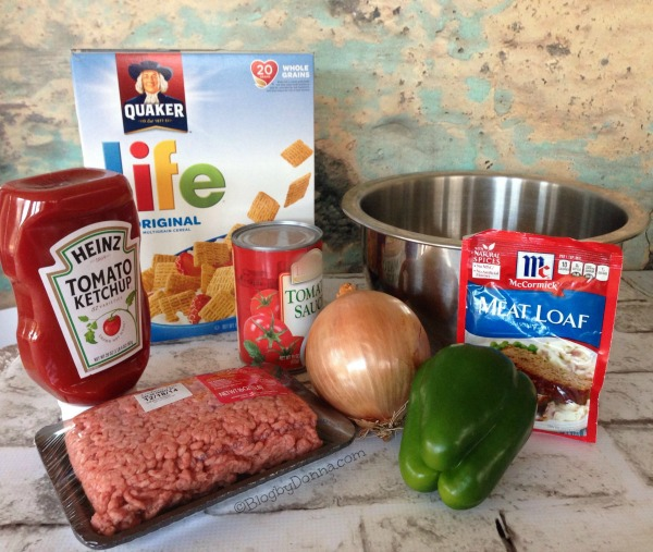 Ingredients for Meatloaf Muffins #QuakerUp #LoveMyCereal #collectivebias