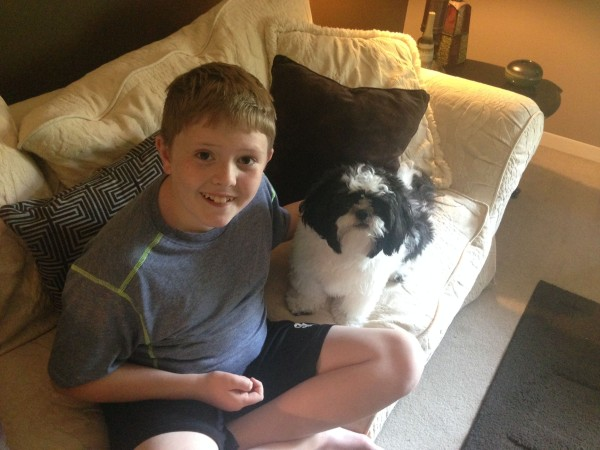 Cody with Baxter 1 #NudgeThemBack
