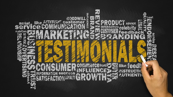 testimonials word cloud with related tags