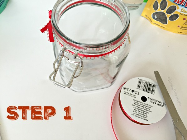 DIY dog treat jar Step 1