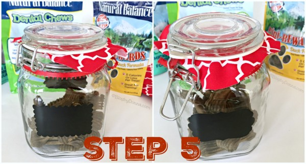 DIY dog treat jar Step 5