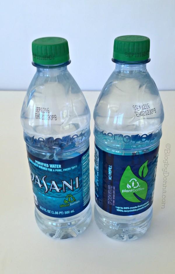 Dasani Water PlantBottle packaging #GreenBottleCap