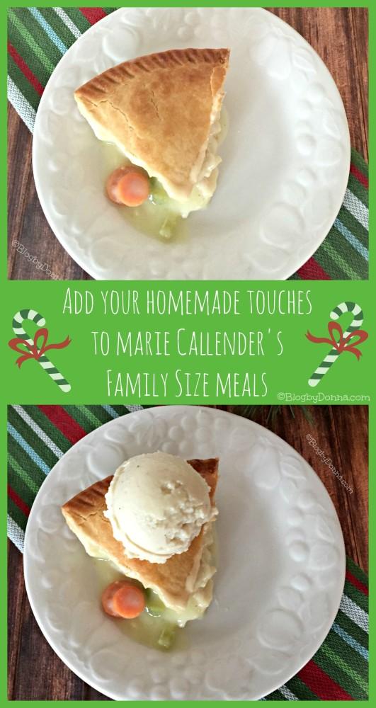 Marie Callender's chicken pot pie #homemadetouches