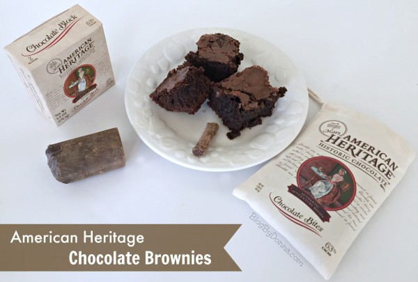 Brownies with American Heritage Chocolate Recipe