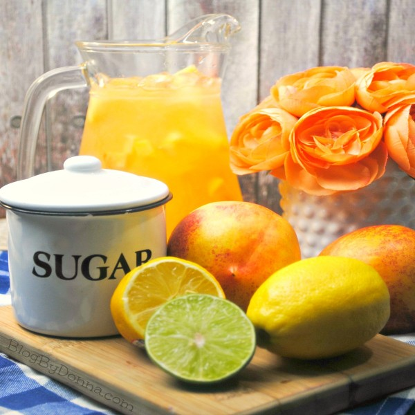 Nectarine Lemonade recipe for summer, cookouts, parties, picnics, or anytime...