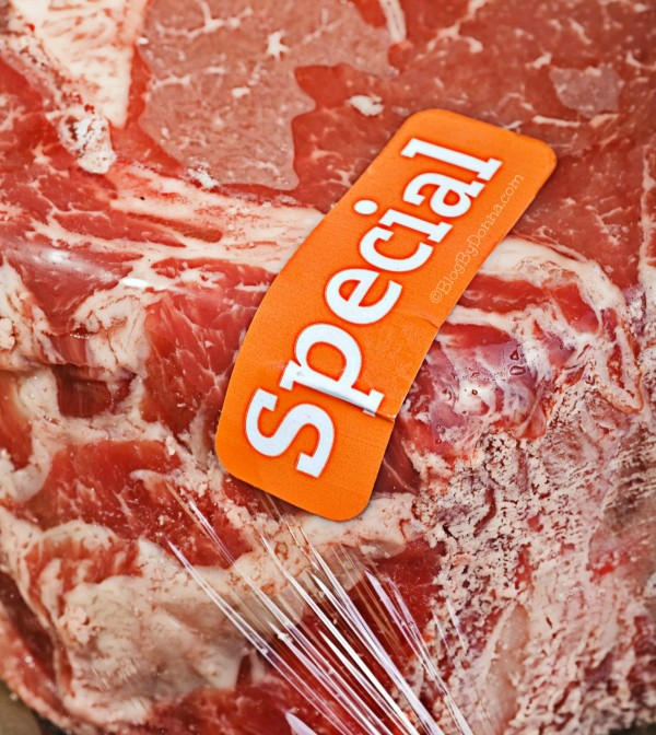 Save money on beef by buying beef on special or sale...