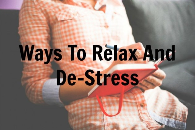 ways to relax and de-stress