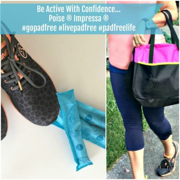 Be active with confidence with Poise Impressa and get cash back using Ibotta #gopadfree #livepadfree #padfreelife