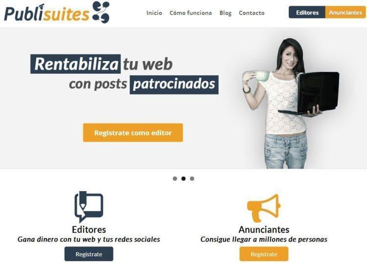 Publisuites: Ganar algo de dinero escribiendo en tu blog