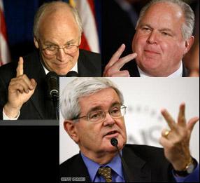 Rush Newt Cheney