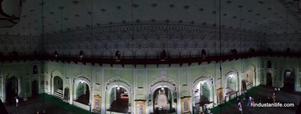 Bara Imambara - Panoramica de la Sala Central
