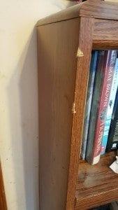 missing chunks from edge of bookshelf