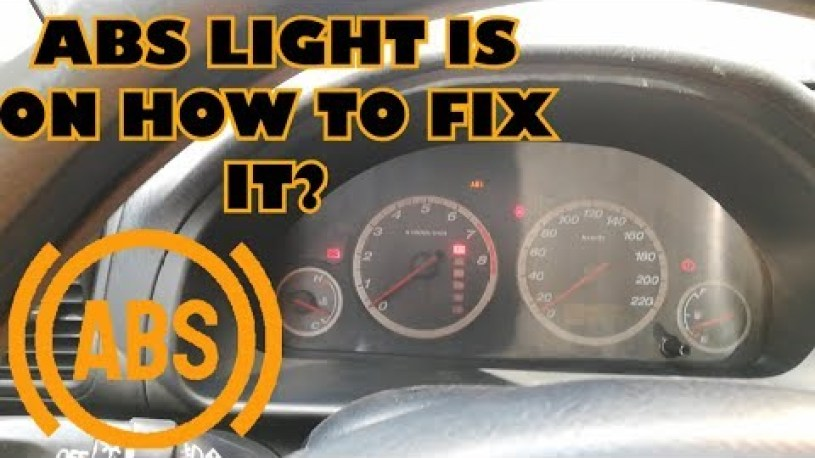 ABS LIGHT is ON How to FIX IT Without Scan Tool