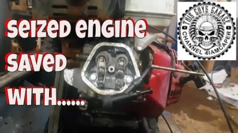 """seized small engine repaired with  transmission fluid seafoam deep creep """"this guys garage"""""""