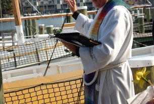 Photo: Reverend Kevin M. Cross of The Church of the Holy Trinity in Oxford, Md