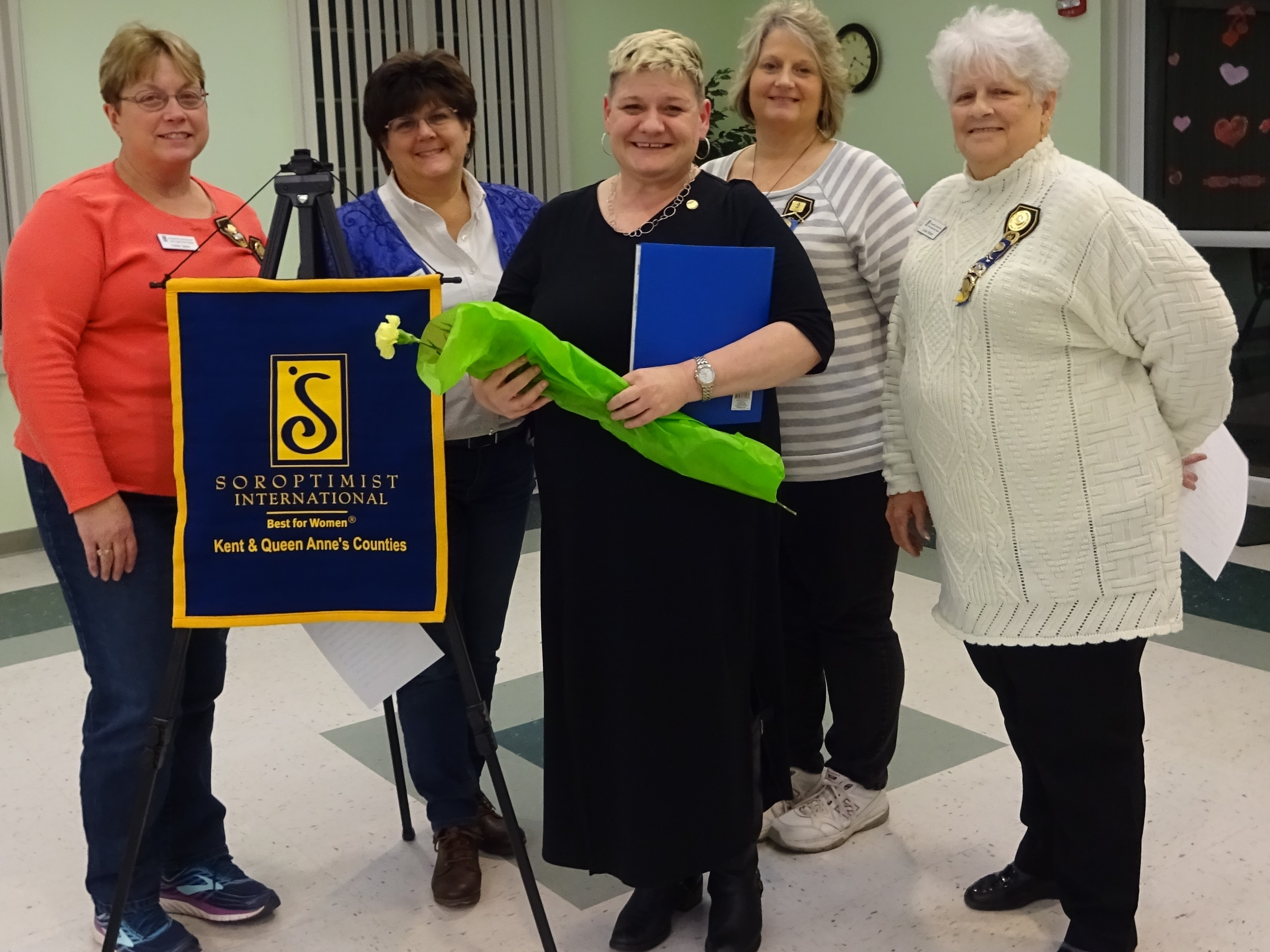 From Left to Right are Vickie Quinn, Board Member, Wendy Bramble, President-elect, Jodi Olson, Connie Morris, South Atlantic Region Treasurer, Louise Skinner, President. - Contributed Photo