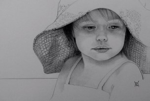"A drawing by Donna Iarusso, the instructor of the ""Drawing from Realism to Abstraction"" class."