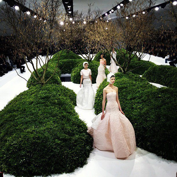 The most breathtaking fashion labyrinth Dior Haute Couture SS 2013
