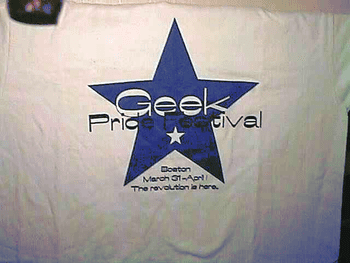 Photo of my Geek Pride Festival T-shirt, as ta...