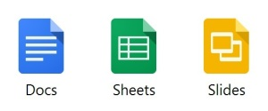 Docs, Sheets and Slides