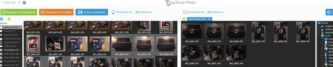 Transférer photos iphone vers pc