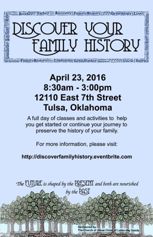 20160423 Oklahoma Family_History_Conference_Poster