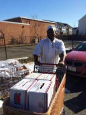 Pantry Food Donation Delivered to Shelter Chef