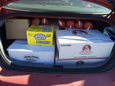 Pantry Food Donation Loading Car