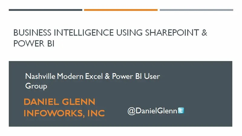 SharePoint Dashboards using Power BI – Nashville Excel & Power BI User Group