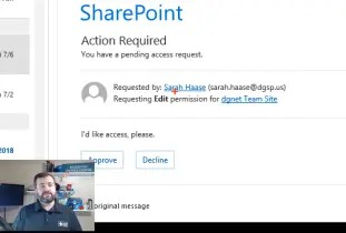 Managing SharePoint Access Requests