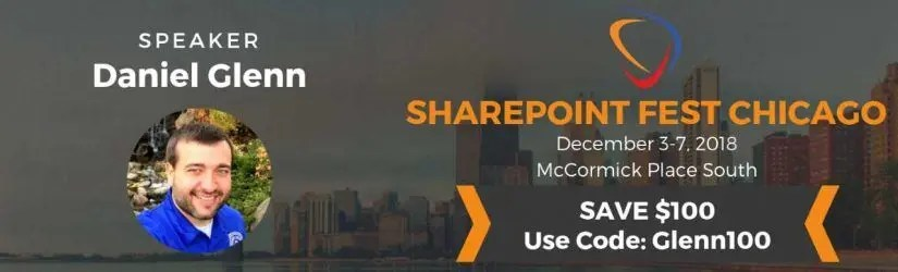 SharePoint Fest Chicago December 3-7 2018
