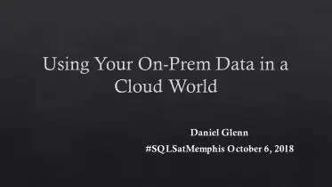 SQL Saturday Memphis 2018