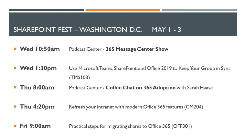 SharePoint Fest Washington D.C. 2019