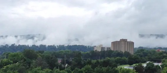Chattanooga Tennessee Foggy Day