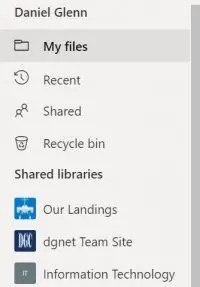 Shared View in OneDrive is Gone