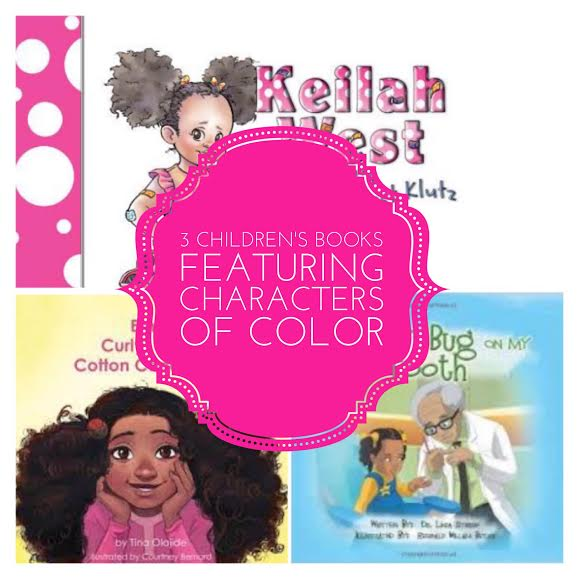 3 children's books featuring characters of color