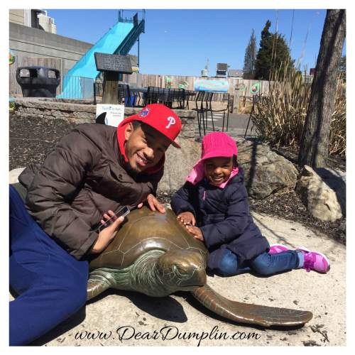 Uncle Seth and Dumplin at the Aquarium