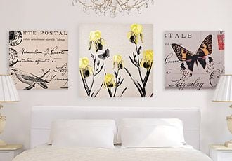 white wall decor