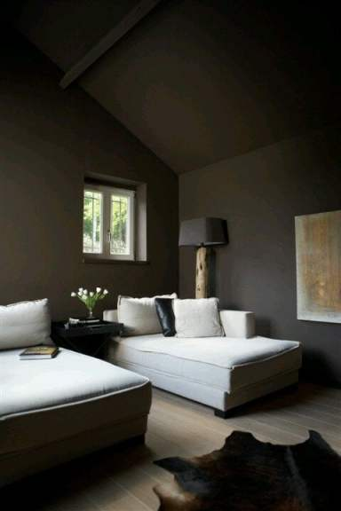 dark walls for small spaces