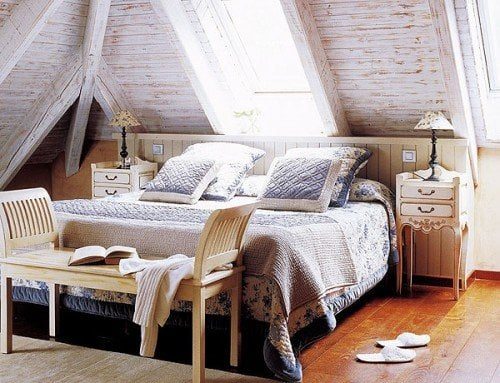 attic bedroom design -  shelterness