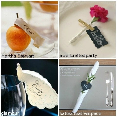 name tags for place settings