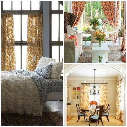 curtain collage - pinterest