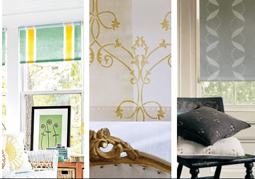 Pinterest - Stencil Roller Blinds