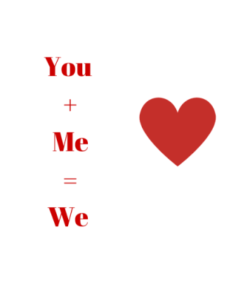 You +Me=We - created at Canva