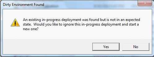 How to Fix Dirty Environment Found Errors