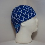 Blue And White Geometric Welders Hat