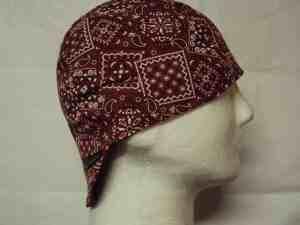 Classic Rust Bandana Welding Hat
