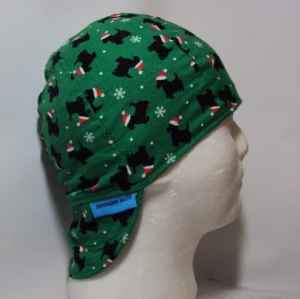 Christmas Scottie Dogs Welding Cap