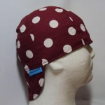 Polka Dots White On Burgundy Welding Hat