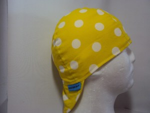 Polka Dots White On Yellow Welding Hat